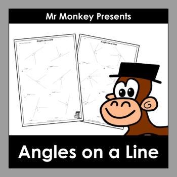 Angles on a Line Worksheets FREEBIE