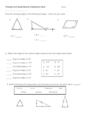 Angles, shape names, and shape classification quiz