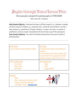 Angles through Dance Lesson Plan