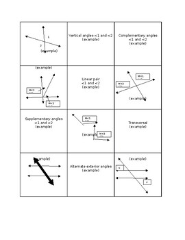 Angles with parallel lines review