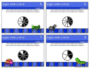 Angles within a Circle {Math Task Cards}