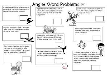 Angles word problems differentiated