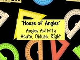 """Angles worksheet:  Acute, Obtuse, Right- """"House of Angles"""""""