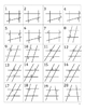 Parallel Lines cut by a Transversal~Angle Names~Sort~Differentiated