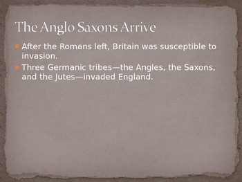 Anglo Saxon Introductory PowerPoint