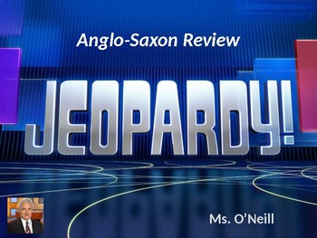 Anglo-Saxon Jeopardy Game