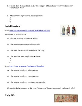 Anglo Saxon Literature - WebQuest