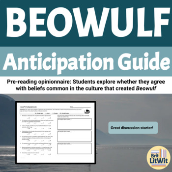 Beowulf Anticipation Guide: Anglo-Saxon Opinionnaire