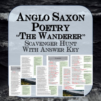 Anglo Saxon Poetry: The Wanderer Scavenger Hunt