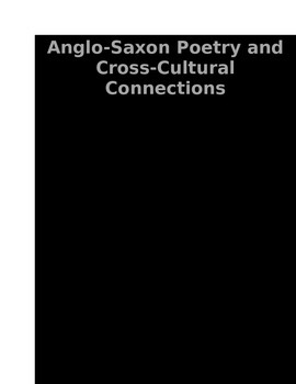 Anglo-Saxon Poetry with Cross-Cultural Connections