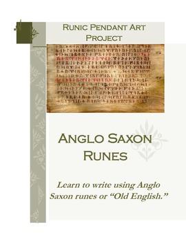 Anglo Saxon Writing Runes Activity