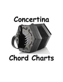 Ango-Irish Concertina C/G Chord Charts: diatonic 30 button, Wheatstone Keyboard