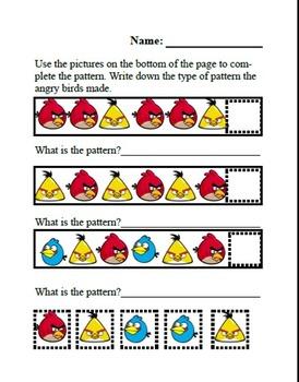 Angry Bird Patterning