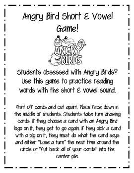 Angry Bird Short E Game!