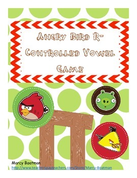 Angry Bird r-Controlled Vowel Game