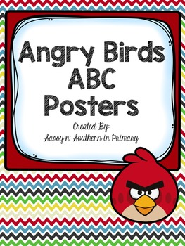 Angry Bird themed ABC Posters