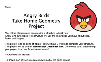 Angry Birds 2D/3D Geometry Project