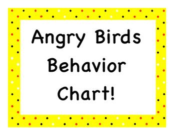 Angry Birds Behavior Chart!