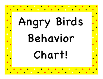 Angry Birds Behavior Chart!