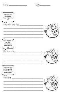 Angry Birds Creative Writing!