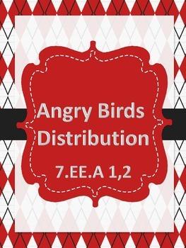 Angry Birds Distributive Property