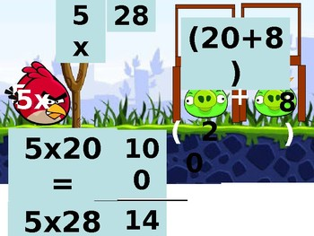 Angry Birds Distributive Property