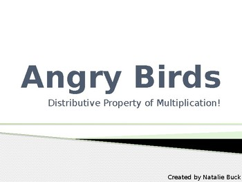 Angry Birds Distributive Property Powerpoint
