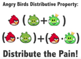 Angry Birds Distributive Property Project