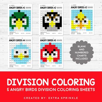 Angry Birds Inspired Division Coloring Pages