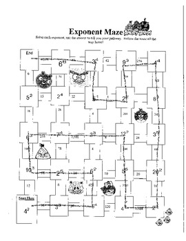 Angry Birds Exponent Maze
