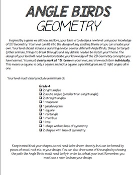 Angle Birds Geometry