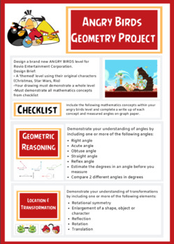 Angry Birds Geometry Project: Angles & Transformations