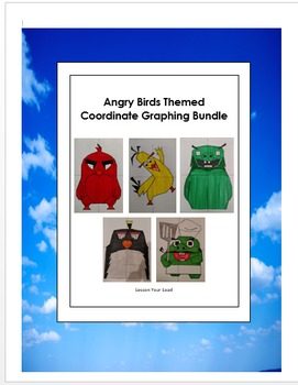 Angry Birds Inspired Coordinate Graphing Bundle