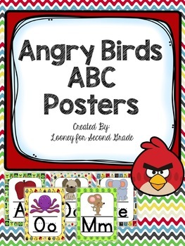 Angry Birds Themed ABC Posters