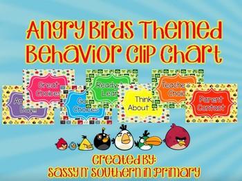Angry Birds Themed Behavior Clip Chart