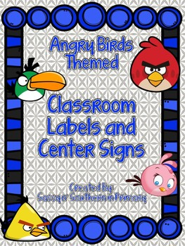 Angry Birds Themed Center Signs and Classroom Labels