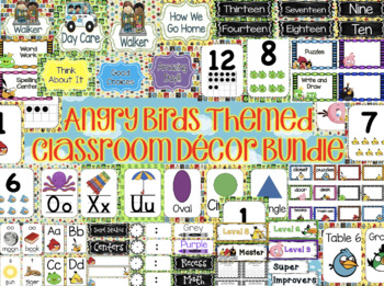 Angry Birds Themed Classroom Decor Bundle