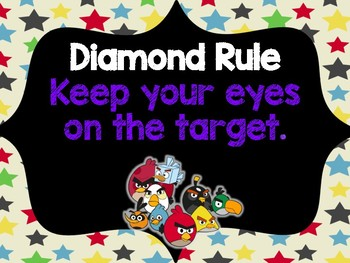 Angry Birds Themed Classroom Rules