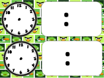 Angry Birds Themed Classroom Schedule Cards