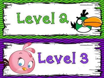 Angry Birds Themed Super Improvers Wall