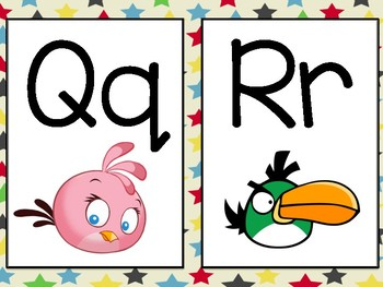 Angry Birds Themed Word Wall Letters