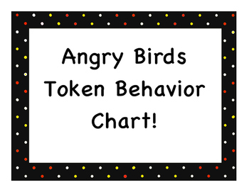Angry Birds Token Behavior Chart!