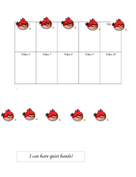 Angry Birds Token Board