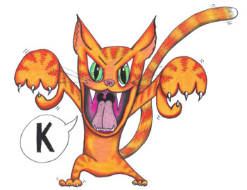 """Articulation Isolation - /k/ - """"The Angry Cat Sound """"K!"""" Colored Poster"""