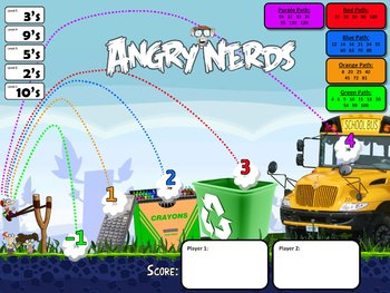 """""""Angry Nerds"""" Math Game"""