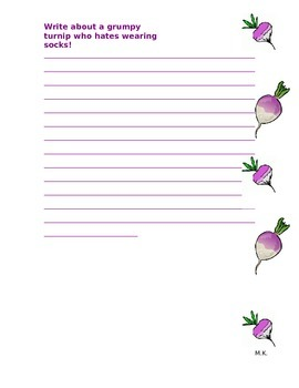 Angry Turnips Writing Prompt