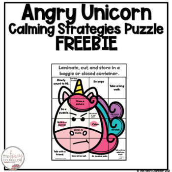 Angry Unicorn Calming Strategies Puzzle