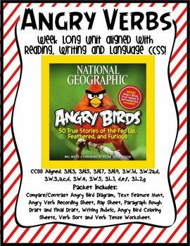 Angry Verbs--CCSS aligned with reading, writing and language