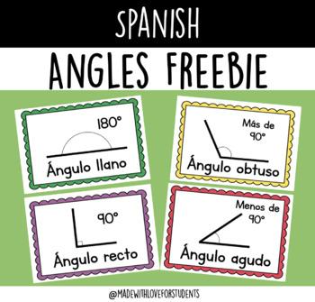 Ángulos FREEBIE (Angles SPANISH)
