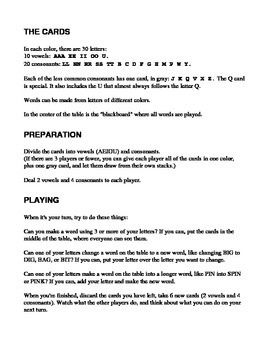 Anim-Abet spelling card game